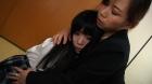 フェチ:レズ:母と娘の接吻レズ