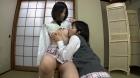 フェチ:レズ:女子校生の乳首舐め合いこ