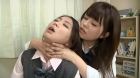 フェチ:レズ:女子校生の首絞めレズ