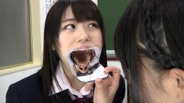 フェチ:レズ:歯観察 歯舐めレズ
