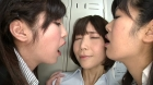 フェチ:レズ:先輩の悪臭を放つ口の匂いを嗅がされる。~そして4人の乱交レズSEX~