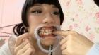 フェチ:レズ:歯観察レズキス 「里奈」と「いちご」