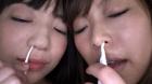 フェチ:レズ:エリナ&あられ お顔ぺろぺろ大好き☆