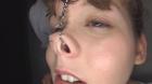 フェチ:レズ:金髪鼻高美女クララの鼻にしゃぶりつく