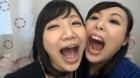 フェチ:レズ:自撮り自己紹介 相互口内自撮り 星川麻紀 横山夏希