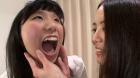 フェチ:レズ:素人娘ちひろ&かりんの初めてのレズ接吻