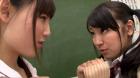 フェチ:レズ:ドスケベビアン教師の放課後顔面舐めレズレッスン あやね遥菜 成海夏季
