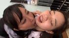 フェチ:レズ:顔面舐め合いレズ ~美人巨乳OLレズカップルの深夜の秘めごと編 羽生ありさ 斉藤みゆ