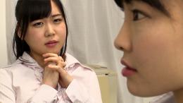 フェチ:レズ:憧れの女上司の口臭と唾液の匂いでイッちゃう変態OLちゃん 満月ひかり 杠えな