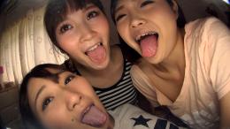 フェチ:レズ:べろちゅ~三姉妹のトリプルバーチャルレズベロキス 小春 優保なのか 夢乃美咲