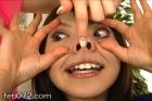 フェチ:レズ:★大人気顔いじりレズ★眼球もろだし・豚鼻・強制口開器具★