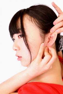 【耳観察 安達まどか】 安達まどかちゃんの耳をじっくり観察!!  安達まどか