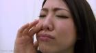 フェチ:レズ:真桜ちゃんの鼻観察・くしゃみ鼻水