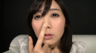 フェチ:レズ:淫乱美痴女の鼻観察と鼻水ディルド手コキ 葵千恵