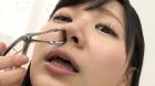 フェチ:レズ:恋人気分でバーチャル鼻観察・くしゃみ鼻水 星川麻紀
