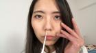 フェチ:レズ:素人娘ちひろちゃんの鼻観察・くしゃみ鼻水