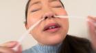 フェチ:レズ:素人娘ともみちゃんの鼻観察・くしゃみ鼻水