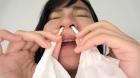 フェチ:レズ:素人娘みさきちゃんの鼻観察・くしゃみ鼻水