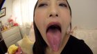 フェチ:レズ:神納花さんの舌・口内自撮り