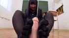 フェチ:レズ:5本指パンストを穿いた女 熊野あゆ
