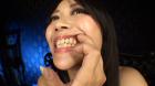 フェチ:レズ:及川貴和子女王様の舌・糸引く唾液・口内自撮り