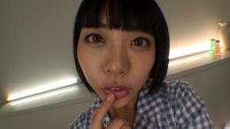 フェチ:レズ:七海ゆあちゃんの舌・口内自撮り