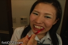 フェチ:レズ:美少女達の【本当は汚い口内≪ベロ磨き≫】3名の美女編
