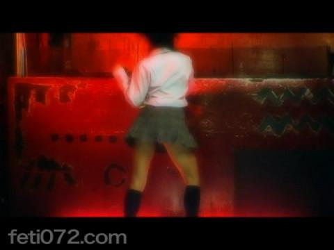 フェチ:レズ:女子校生 アナルスティックダンス