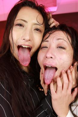 フェチ:レズ:【超絶ハードコアマニアック】顔面舐め髪喰い唾液激突レズビアン 神納花 桃瀬ゆり