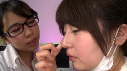 フェチ:レズ:口臭吐き掛け鼻舐めレズ診察 優梨まいな 永野楓果