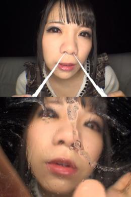 フェチ:レズ:主観痴女淫語鼻観察・くしゃみ鼻水ぶっかけ