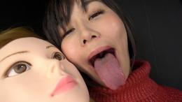 フェチ:レズ:マネキン女バーチャルレズ顔面舐め唾吐き掛け淫語③ 明里ともか